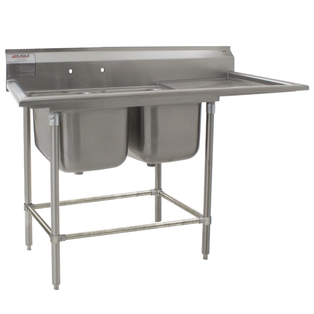 ... Spec-Master Commercial Corner Compartment Prep Sink with Left Side