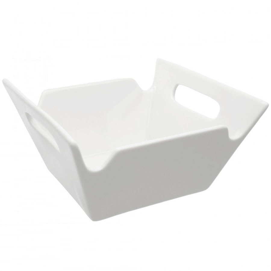 10 Strawberry Street WTR-10SQHNDLBWL Whittier 2.75 Qt. Square Bowl with Handles - 6/Case