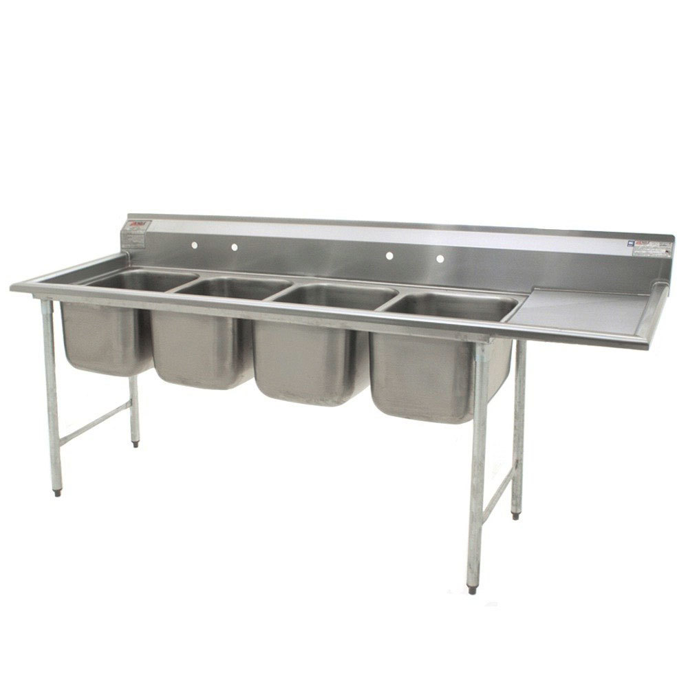 ... Stainless Steel Commercial Sink with One Drainboard - 100 3/4