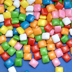 Bubble Gum Bits Candy Ice Cream Topping - 10 lbs. / Case