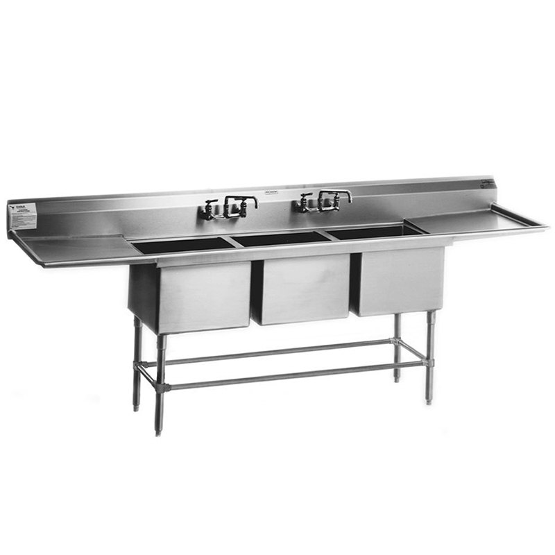 ... Steel Spec-Master Commercial Compartment Sink with Two 18