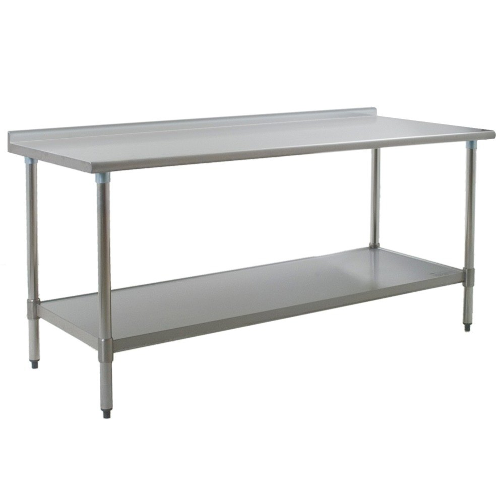 "Eagle Group UT2472SE 24"" x 72"" Stainless Steel Work Table with Undershelf and 1 1/2"" Backsplash at Sears.com"
