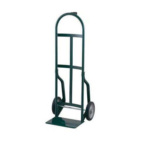 "Harper 46T77 Continuous Single Pin Handle 800 lb. Steel Hand Truck with 8"" x 1 5/8"" Mold-On Rubber Wheels"