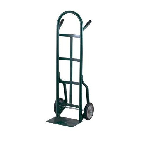 "Harper 40T77 Continuous Dual Pin Handle 800 lb. Steel Hand Truck with 8"" x 1 5/8"" Mold-On Rubber Wheels"