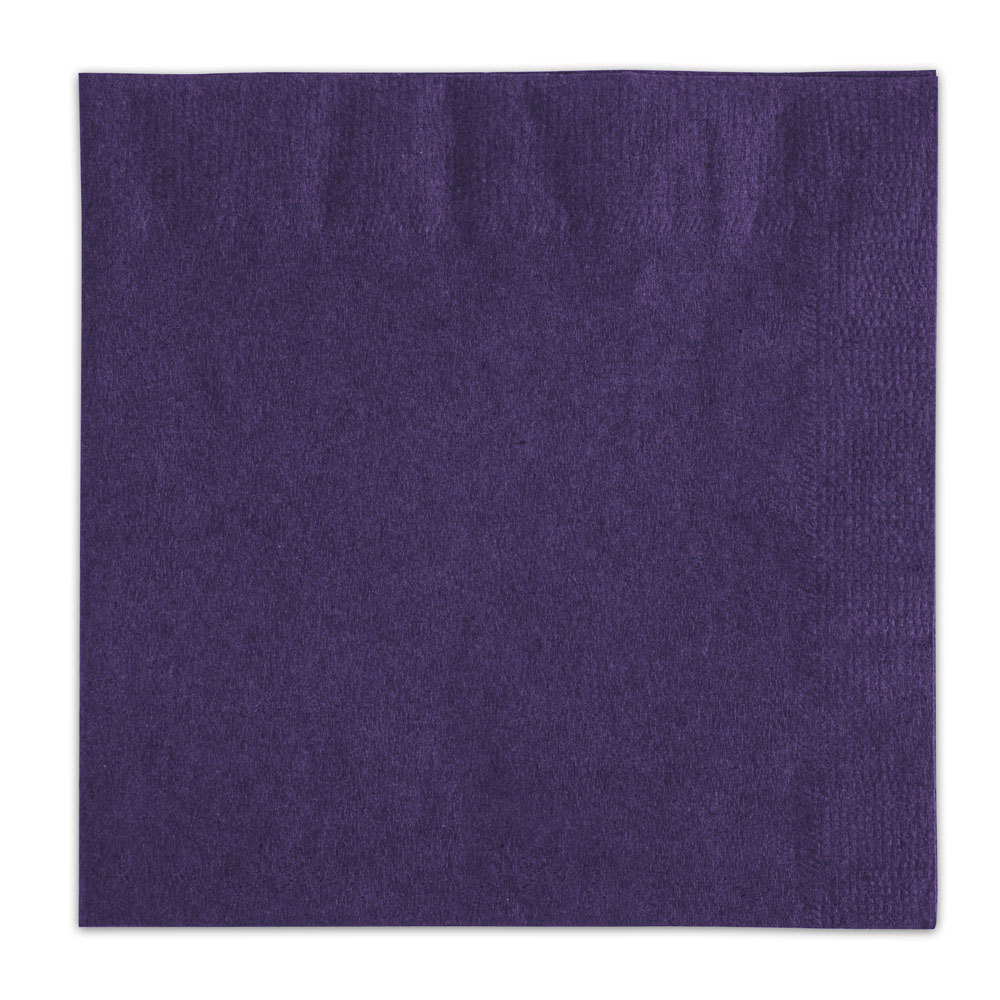 Choice Purple Beverage / Cocktail Napkin - 1000 / Case