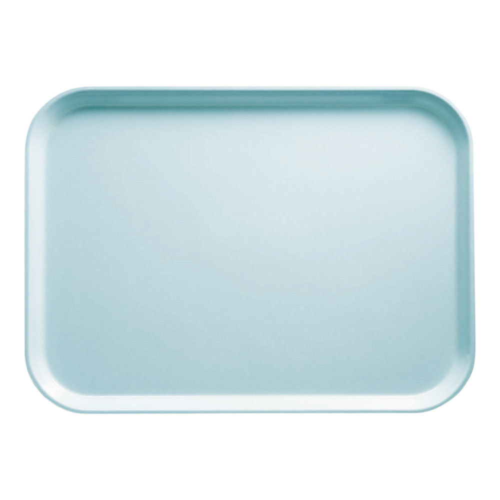 "Cambro 1826177 17 7/8"" x 25 3/4"" Rectangular Sky Blue Fiberglass Camtray - 6 / Case"