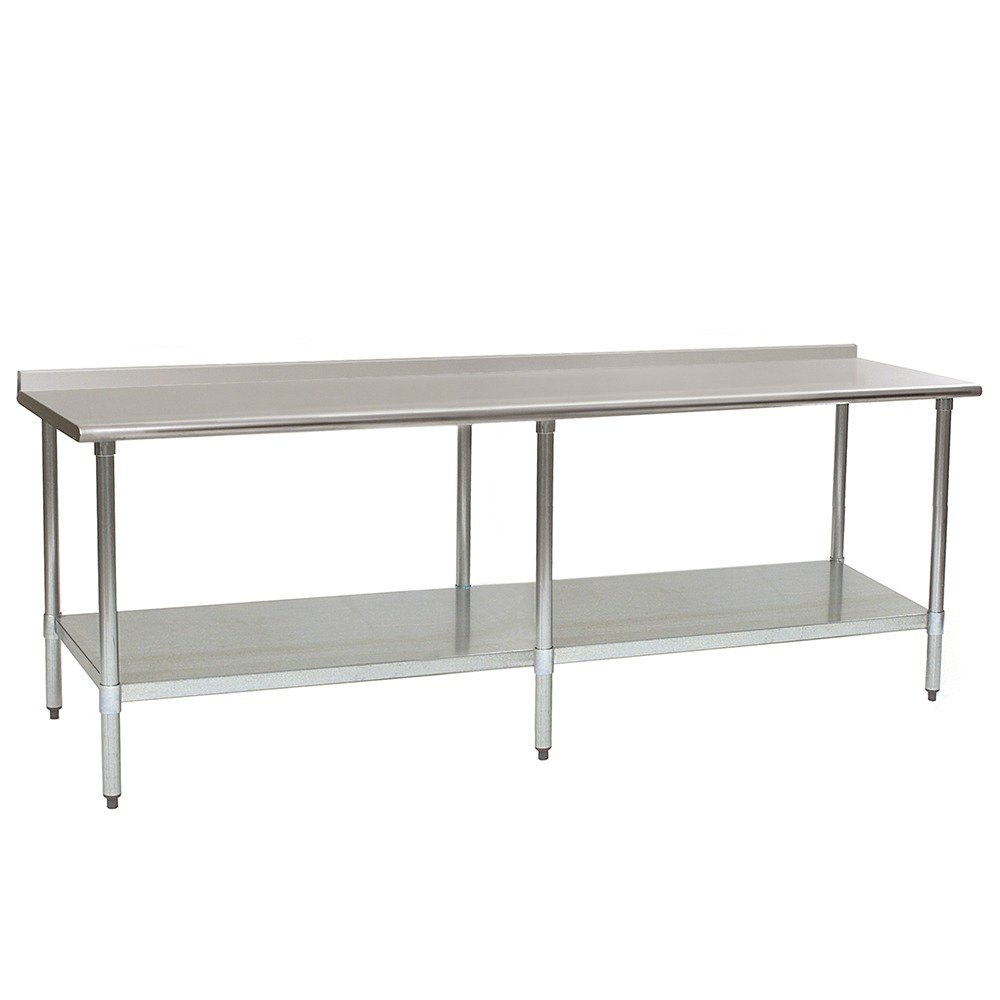 "Eagle Group UT3696SE 36"" x 96"" Stainless Steel Work Table with Undershelf and 1 1/2"" Backsplash at Sears.com"