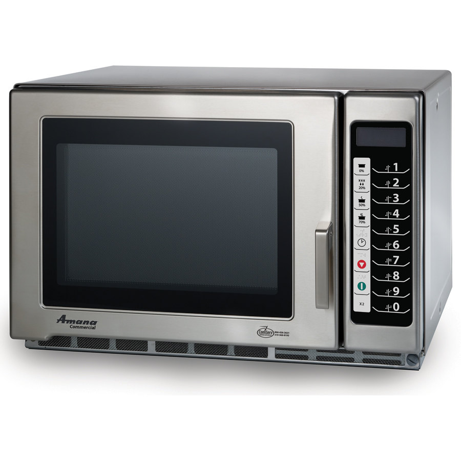 Amana Commercial Microwaves Amana RFS12TS 1200 Watt Heavy Duty Commercial Microwave with Push Button Controls - 120V All Stainless at Sears.com