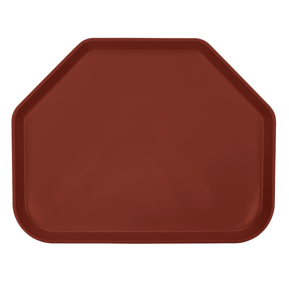 "Cambro 1418TR501 14"" x 18"" Trapezoid Real Rust Fiberglass Camtray - 12/Case"