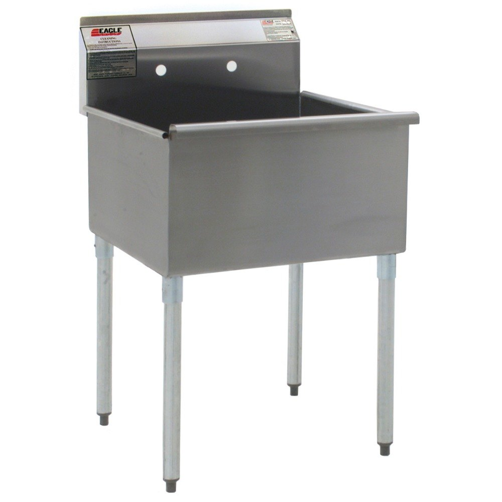 3 Bay Stainless Steel Commercial Sink : Group 1824-1-16/3 One Compartment Stainless Steel Commercial Sink ...