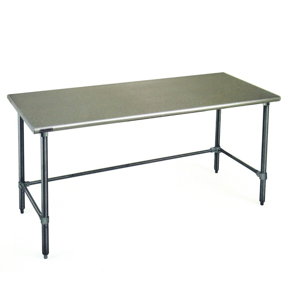 "Eagle Group T2484GTE 24"" x 84"" Open Base Stainless Steel Commercial Work Table"