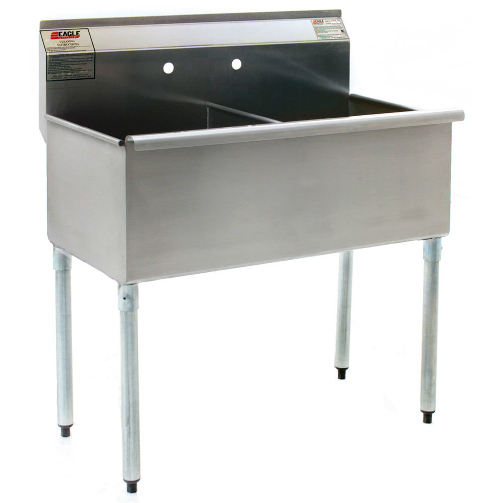 ... Stainless Steel Commercial Sink without Drainboard - 49 3/8