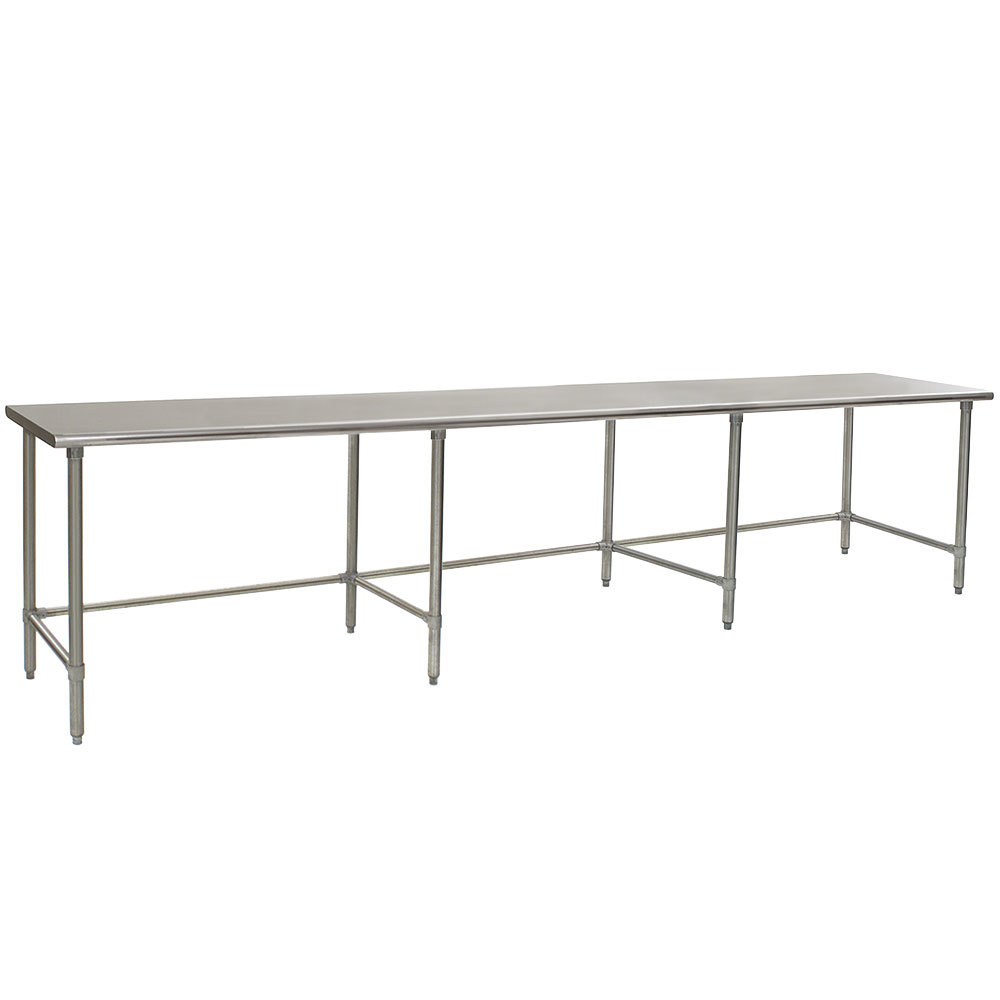"Eagle Group T24144GTEB 24"" x 144"" Open Base Stainless Steel Commercial Work Table"