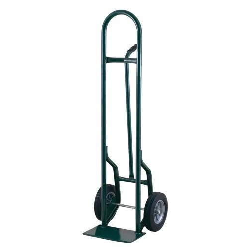 "Harper 35T77 Single Pin Handle 800 lb. Tall Steel Hand Truck with 8"" x 1 5/8"" Mold-On Rubber Wheels"