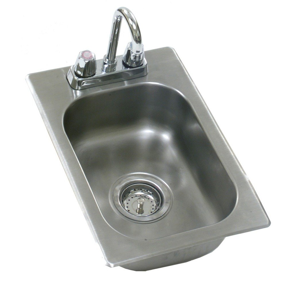 "Eagle Group SR20-12-6.5-1 One Compartment Stainless Steel Drop-In Sink with Deck Mount Faucet and Gooseneck Nozzle ? 20"" x 12"" x at Sears.com"