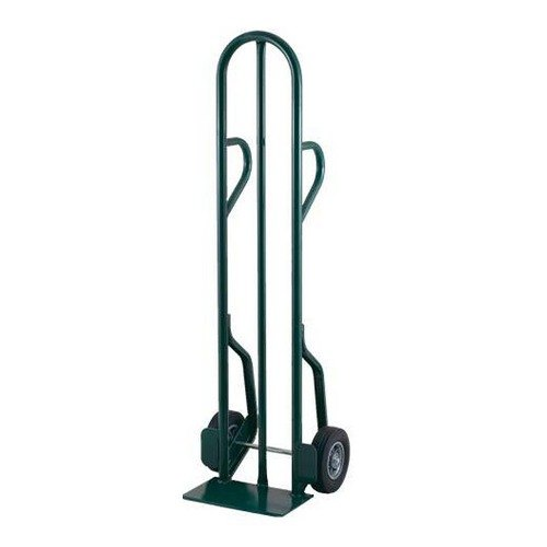 "Harper CTD77 Dual Loop Handle 600 lb. Tall Steel Hand Truck with 8"" x 1 5/8"" Mold-On Rubber Wheels"