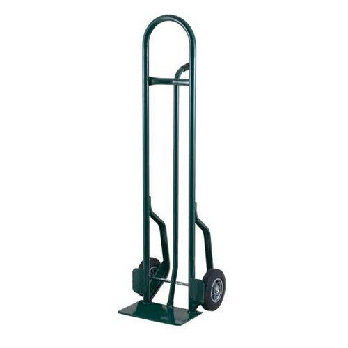 "Harper CTP16 Single Pin Handle 600 lb. Tall Steel Hand Truck with 10"" x 3 1/2"" Pneumatic Wheels"