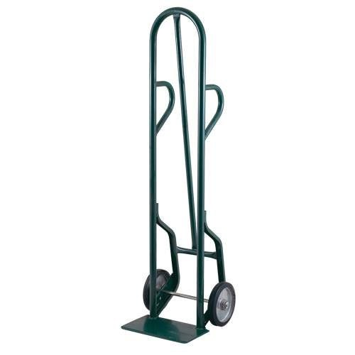 "Harper 34T77 Dual Loop Handle 800 lb. Tall Steel Hand Truck with 8"" x 1 5/8"" Mold-On Rubber Wheels"