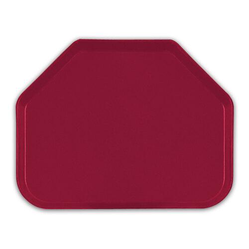 "Cambro 1418TR505 14"" x 18"" Trapezoid Cherry Red Fiberglass Camtray - 12 / Case at Sears.com"