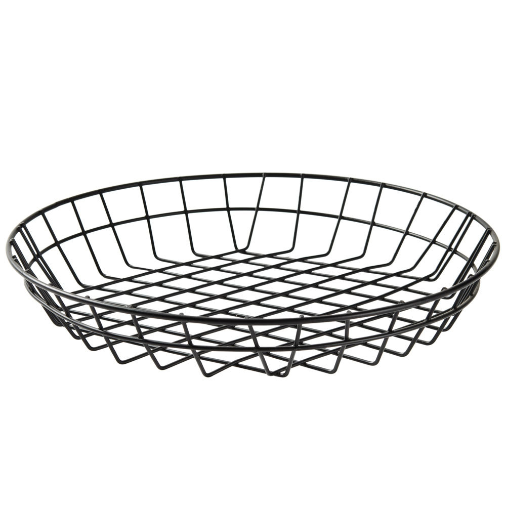 american metalcraft wib120 black round wire basket 12 x 2. Black Bedroom Furniture Sets. Home Design Ideas