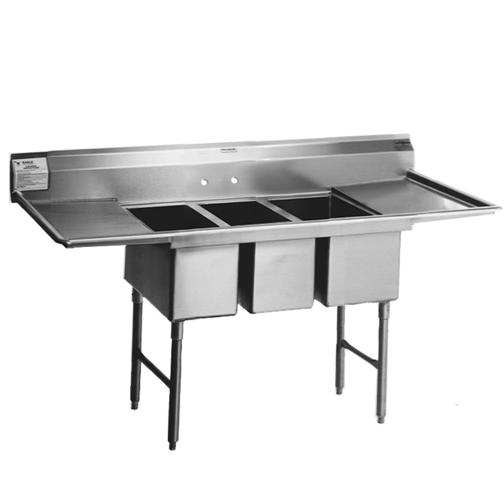 Commercial Sink 3 Compartment : 412-24-3-18 Three 24