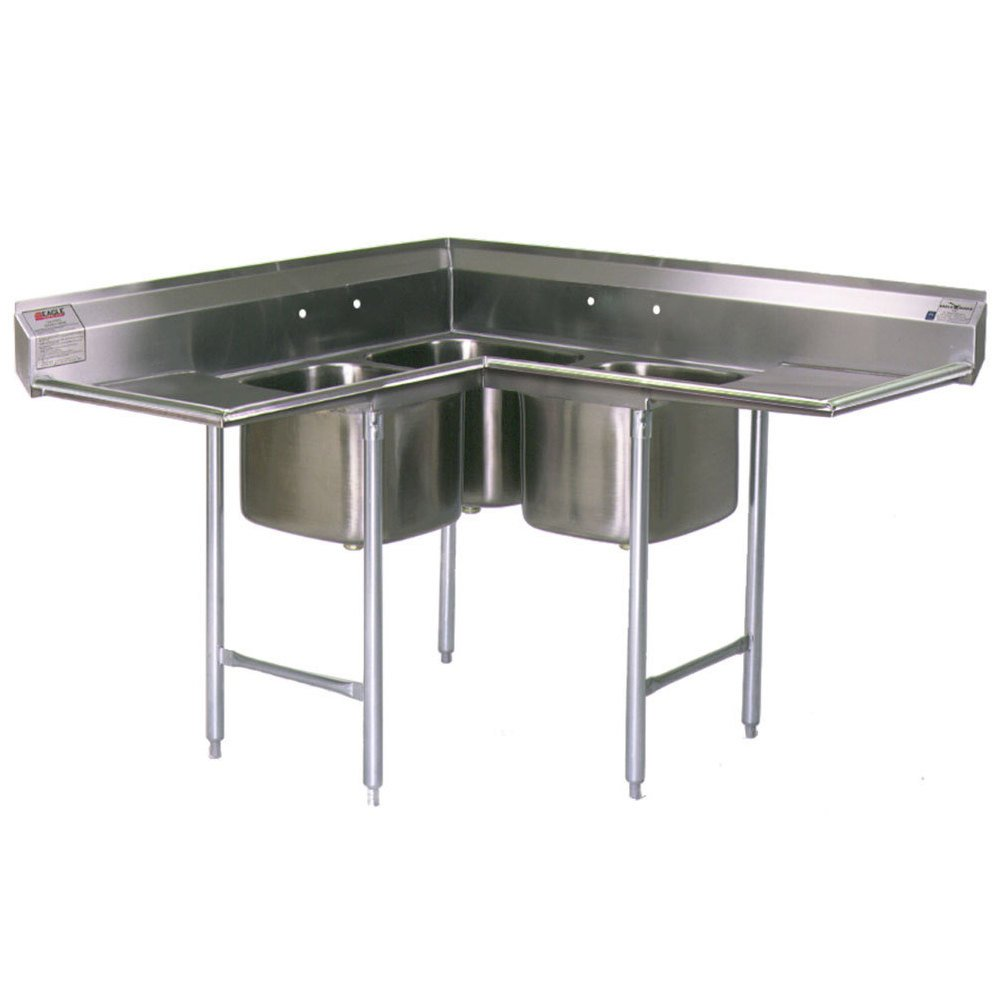... Stainless Steel Commercial Compartment Sink with Two 18