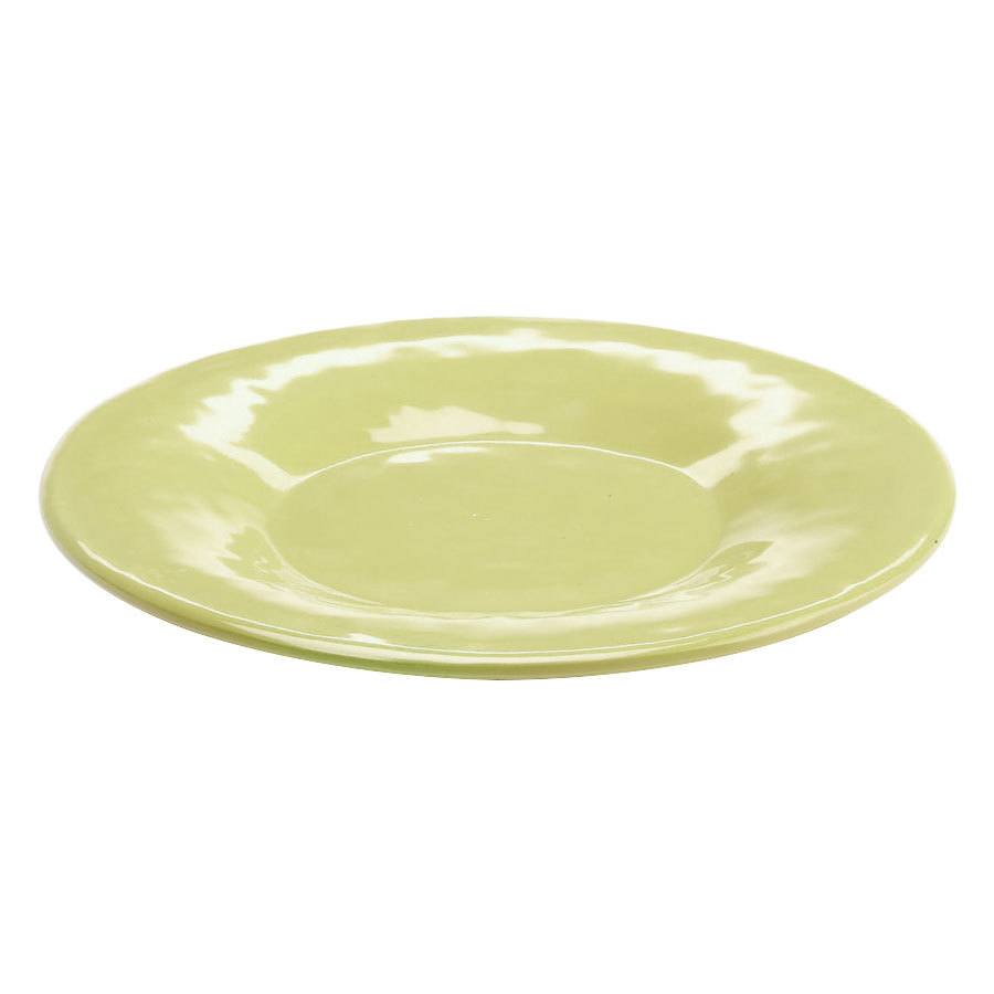 "Elite Global Solutions D11P Tuscany 11 1/4"" Weeping Willow Green Melamine Plate"