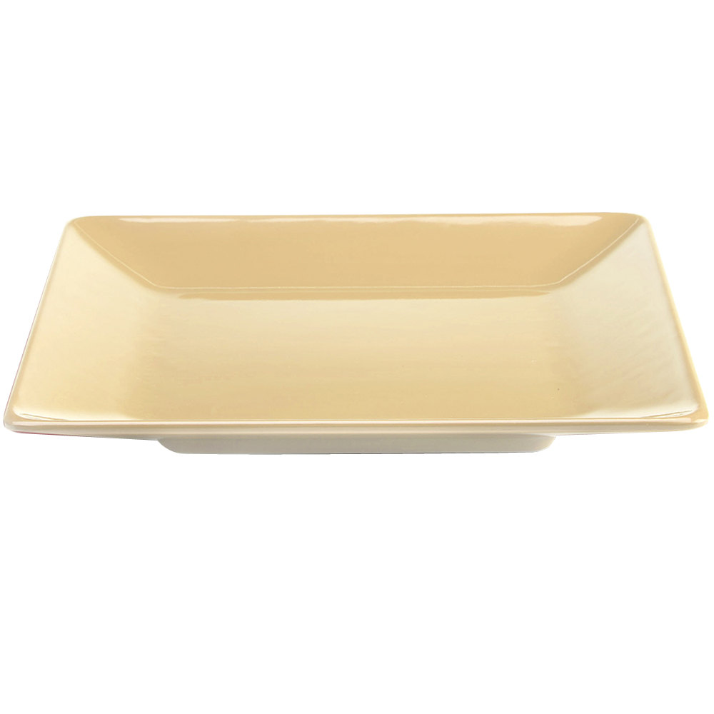 "Elite Global Solutions M1313SQ Symmetry Banana Crepe 13 1/2"" Square Melamine Plate"