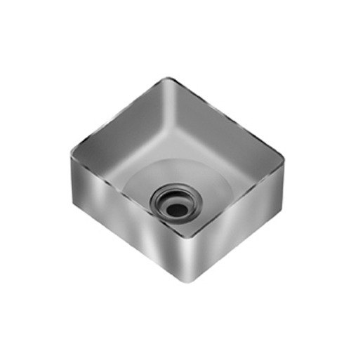 "Eagle Group FNWNF-24-24-14-1 Stainless Steel 24"" x 24"" Fabricated Straight Wall Weld In Sink Bowl - 14"" Deep"
