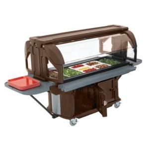 Cambro VBRUHD6146 Bronze 6' Versa Ultra Food / Salad Bar with Storage and Heavy-Duty Casters at Sears.com