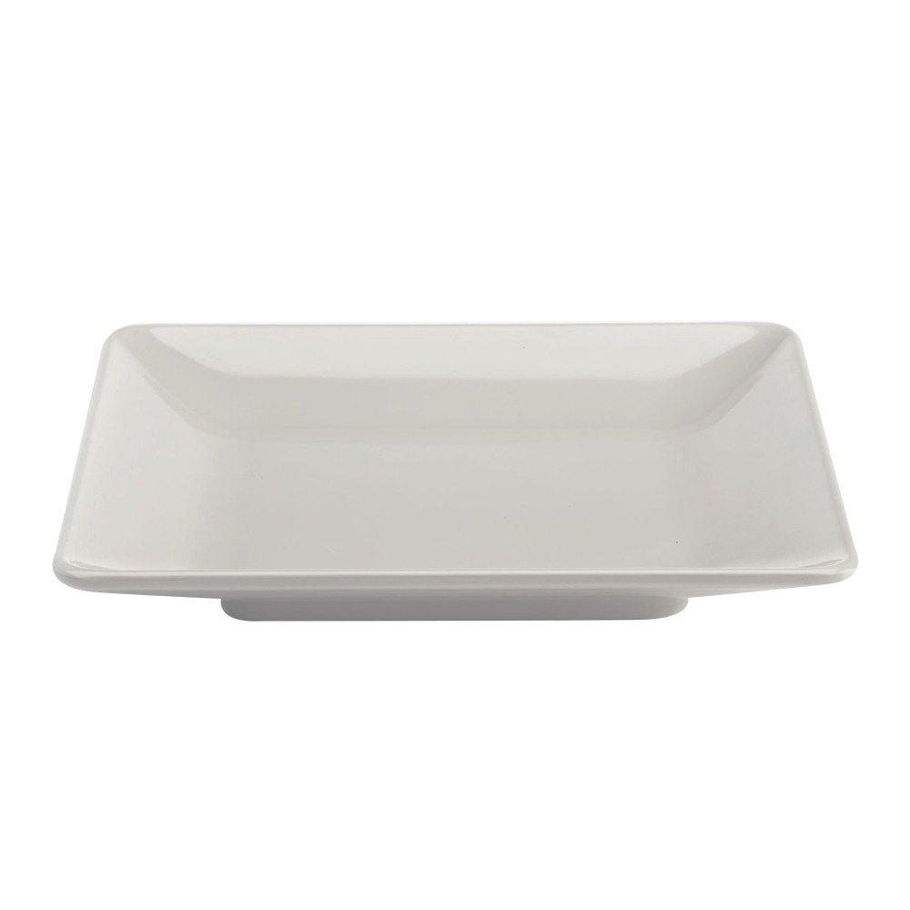 Square Melamine Plates Clever Home White Melamine 10 Inch