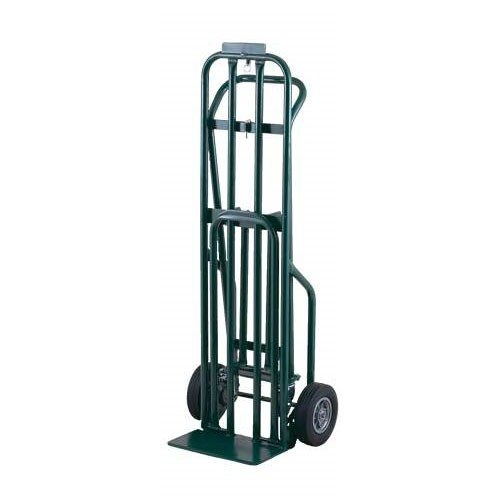 "Harper DCT8546 3-Position 800 lb. Convertible Hand / Platform Truck with 8"" x 2"" Solid Rubber Wheels and 3"" Urethane Casters"
