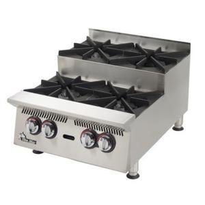 Star 804HA-SU Ultra Max 4 Burner Step Up Countertop Range / Hot Plate 120,000 BTU - 24 inch