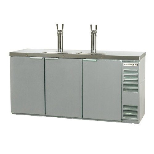 "Beverage Air (Bev Air) DD72Y-1-S Stainless Steel Beer Dispenser 72"" - 3 Keg Kegerator at Sears.com"