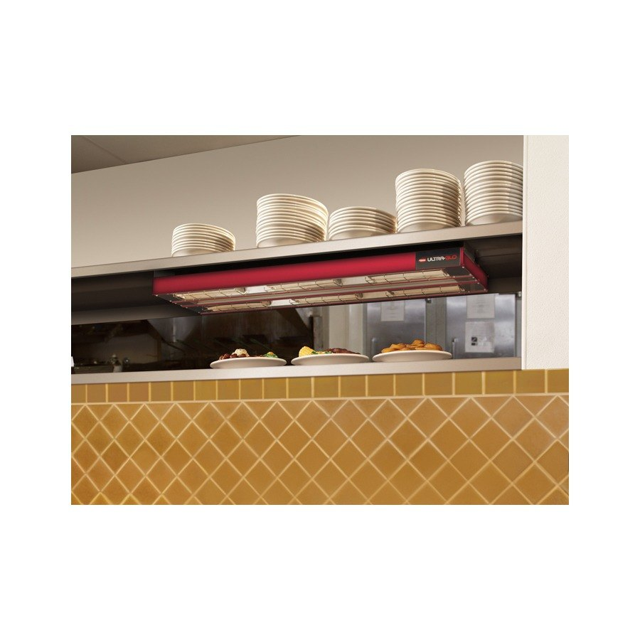 "Hatco UGA-24D Ultra-Glo 24"" x 22"" Dual Ceramic Infrared Strip Food Warmer with Attached Controls - 1350W"