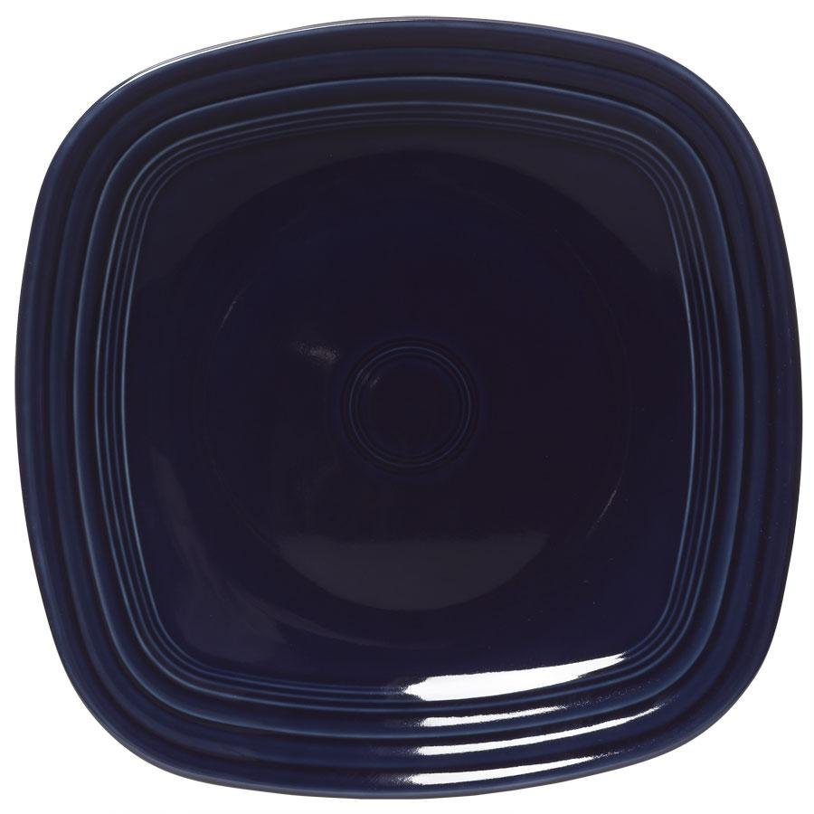 Homer Laughlin 919105 Fiesta Cobalt Blue 10 3/4 inch Square Dinner Plate - 12 / Case