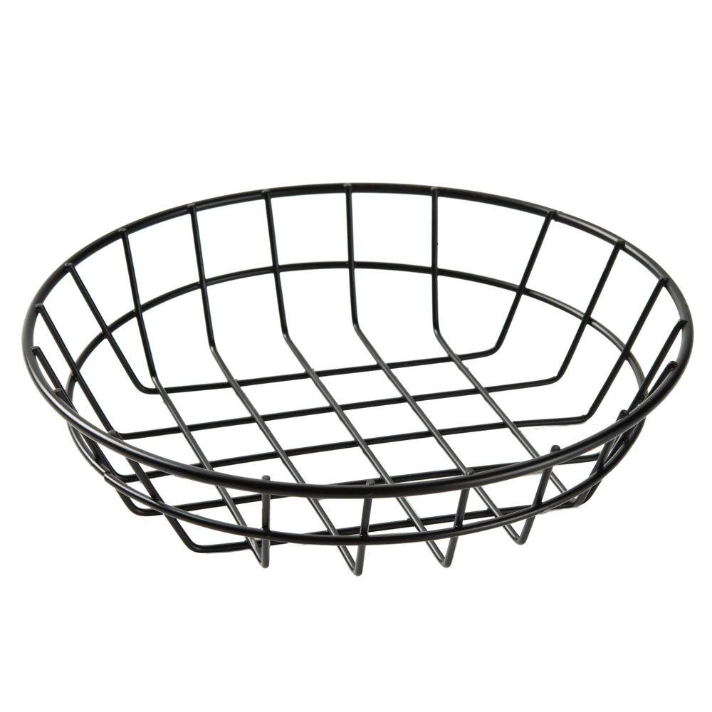 american metalcraft wib80 black round wire basket