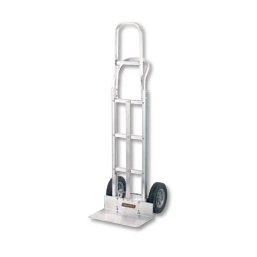 "Harper G3CK60T G-Series Continuous Handle 400 lb. Aluminum Hand Truck with 10"" x 2 1/2"" Solid Rubber Wheels"