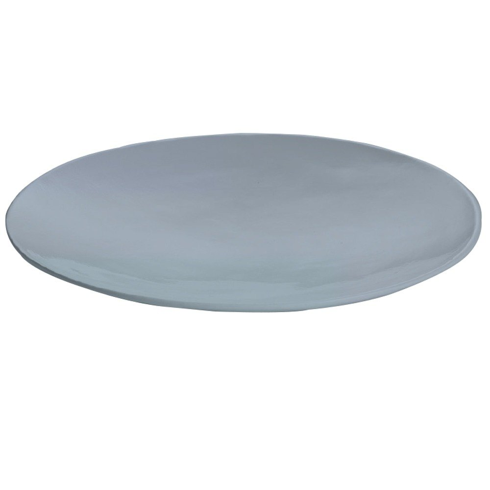 "Tablecraft CW11009GY 20"" x 3 1/2"" Gray Cast Aluminum Round Flared Platter"