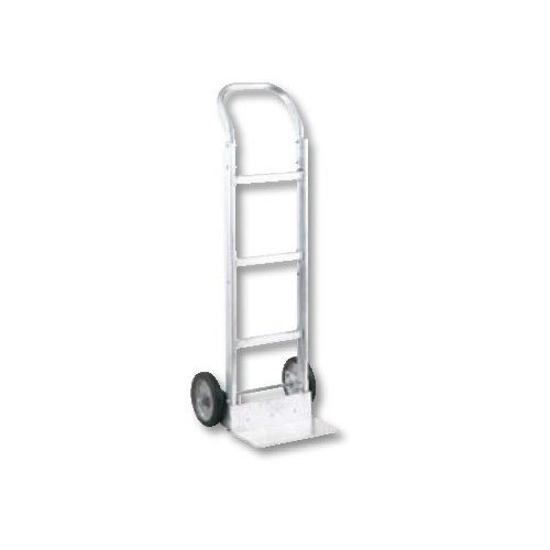 "Harper MACA77 M-Series Continuous Handle 450 lb. Aluminum Hand Truck with 8"" x 1 5/8"" Mold-On Rubber Wheels"