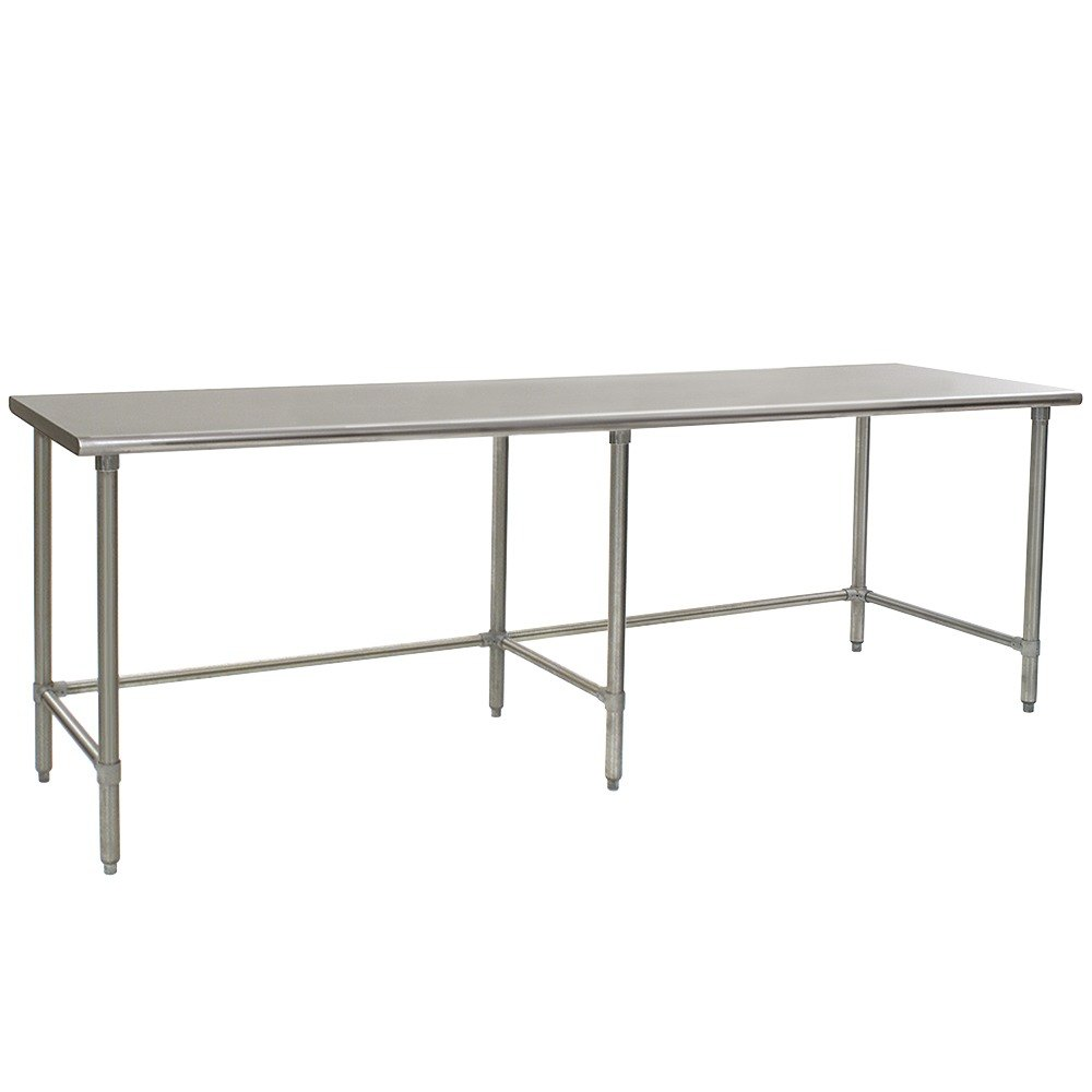"Eagle Group T30120GTEM 30"" x 120"" Open Base Stainless Steel Commercial Work Table"
