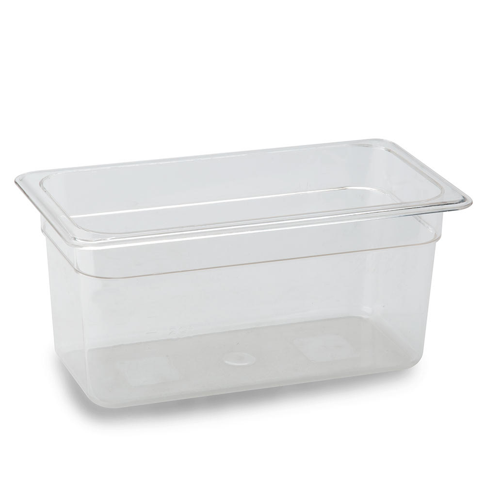 1/3 Size Food Pan 6 inch Deep - Clear Polycarbonate