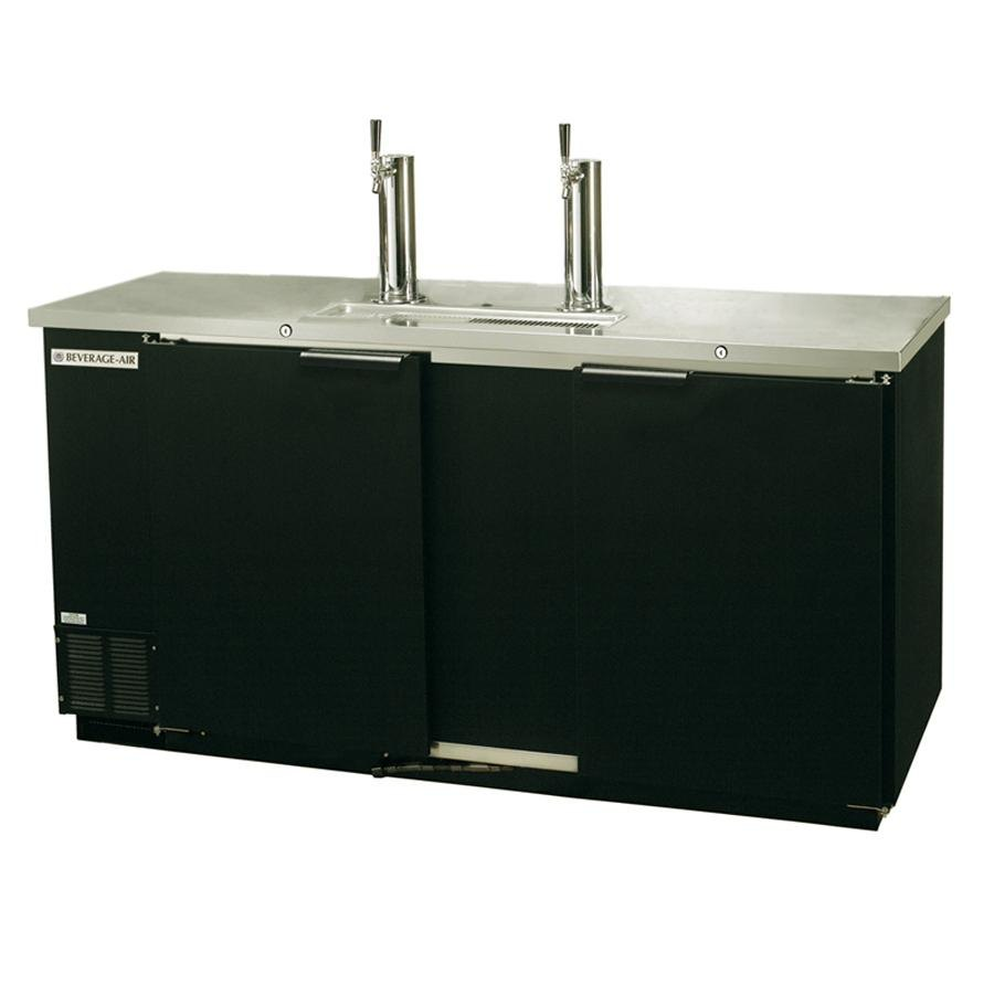 "Beverage Air (Bev Air) DD58R-1-B Black Beer Dispenser 58"" - 3 Keg Remote Cooled Kegerator at Sears.com"