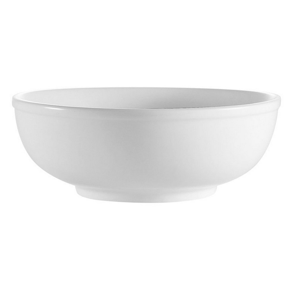 CAC MB-9 Bright White 1.8 Qt. Clinton Rolled Edge Salad / Pasta Bowl - 12 / Case