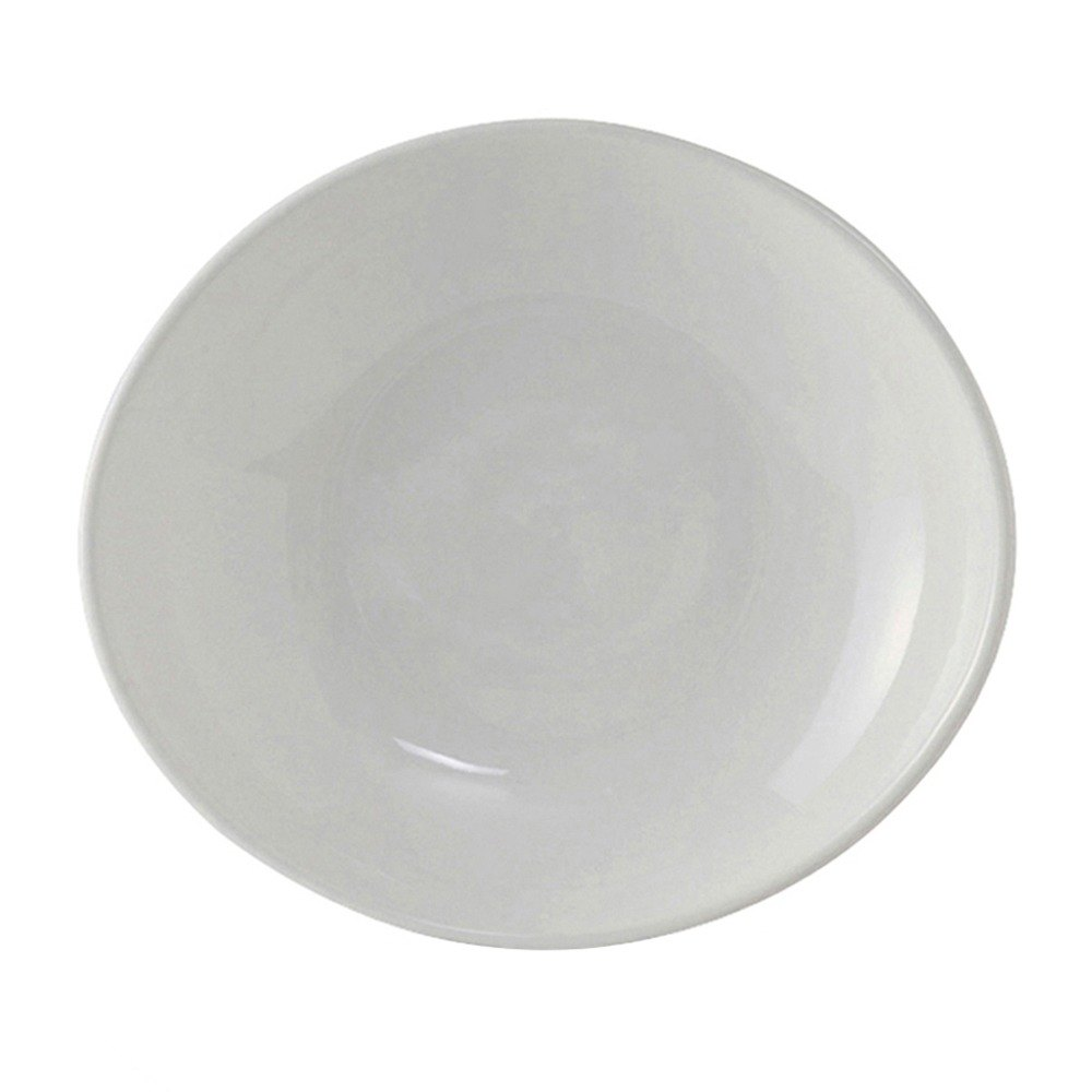 Tuxton BWB-280J DuraTux White 30 oz. Oval Bowl - 12 / Case