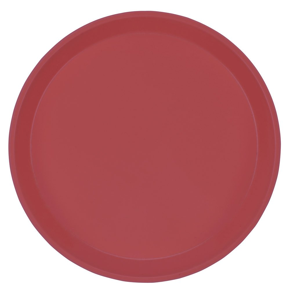 "Cambro 1600410 16"" Round Raspberry Cream Fiberglass Camtray - 12/Case"