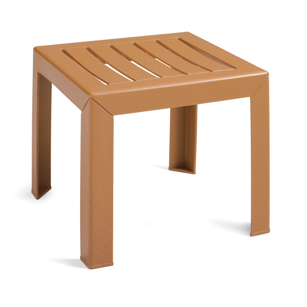 grosfillex ct052008 bahia 16 x 16 teakwood resin low table