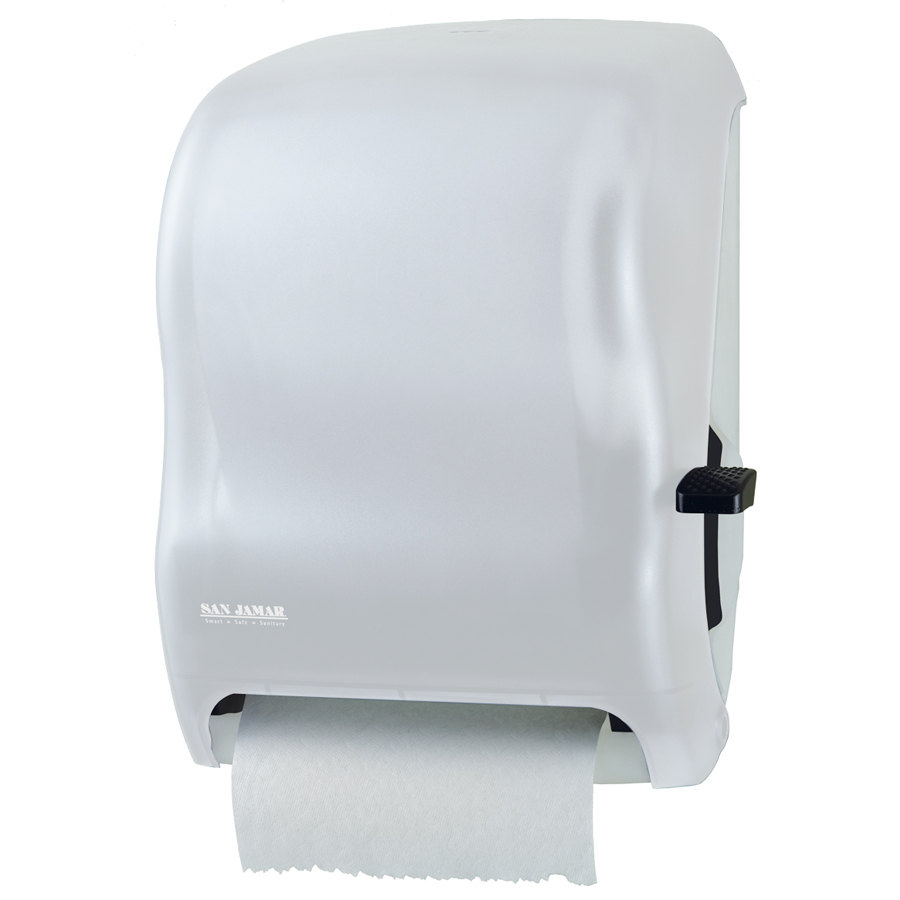 San Jamar T1100WH Classic Lever Roll Towel Dispenser - White