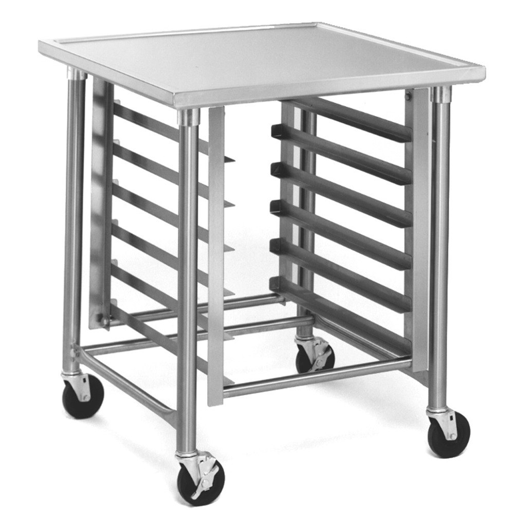 "Eagle Group MMT3030G 30"" x 30"" Mobile Mixer Stand with Galvanized Legs"