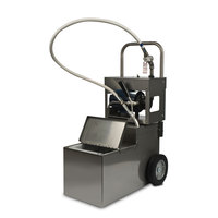 MirOil MOD 0640 70 lb. Fryer Oil Electric Filter Machine and Discard Trolley - Drain Valve 120V